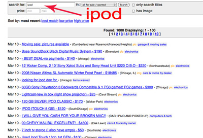 How to optimize your craigslist search results