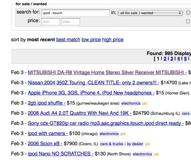 ipod touch craigslist for sale