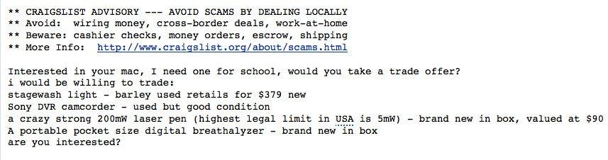 dumb craigslist email