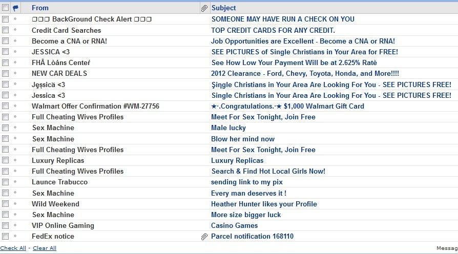 craigslist spam folder
