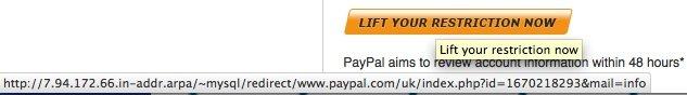 paypal redirect address