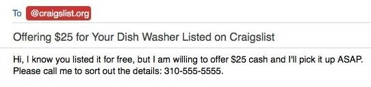 craigslist offer email