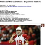 Arizona Cardinals Quarterback for Sale on Craigslist