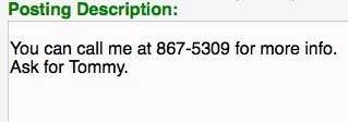 include phone number craigslist
