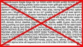 spam craigslist keywords
