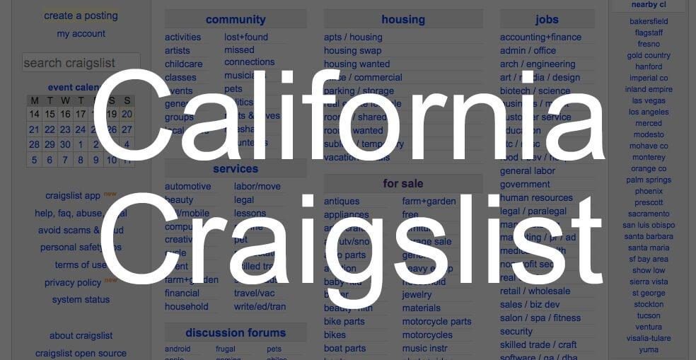 search all craigslist california