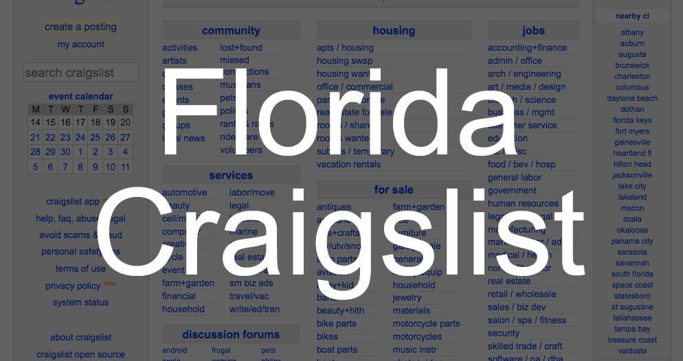 search all florida craigslist