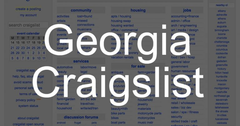 How to Search All of Georgia State Craigslist