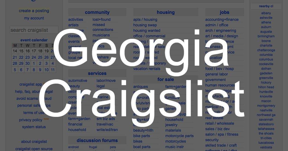 search all georgia craigslist