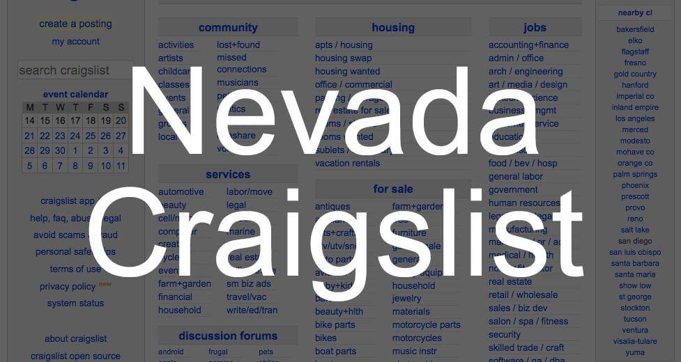 search all nevada craigslist