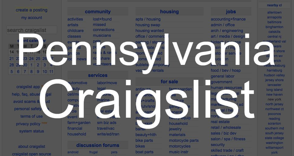 search all pennsylvania craigslist
