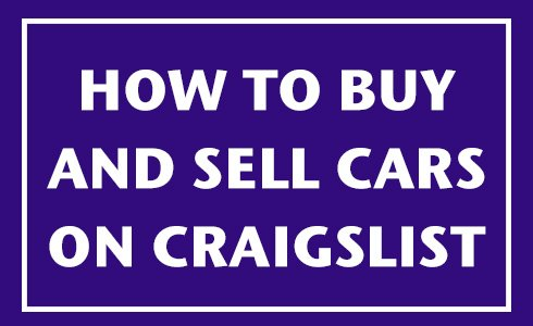 how to buy sell cars craigslist