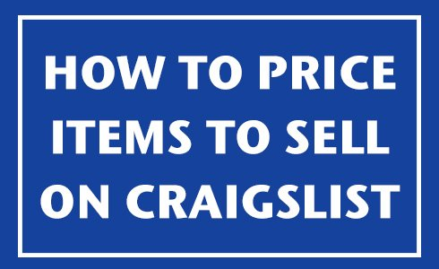 how to price item for craigslist
